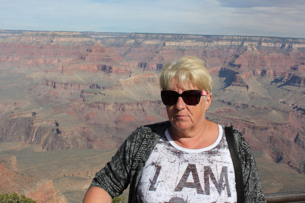 Dorthe ved Grand Canyon